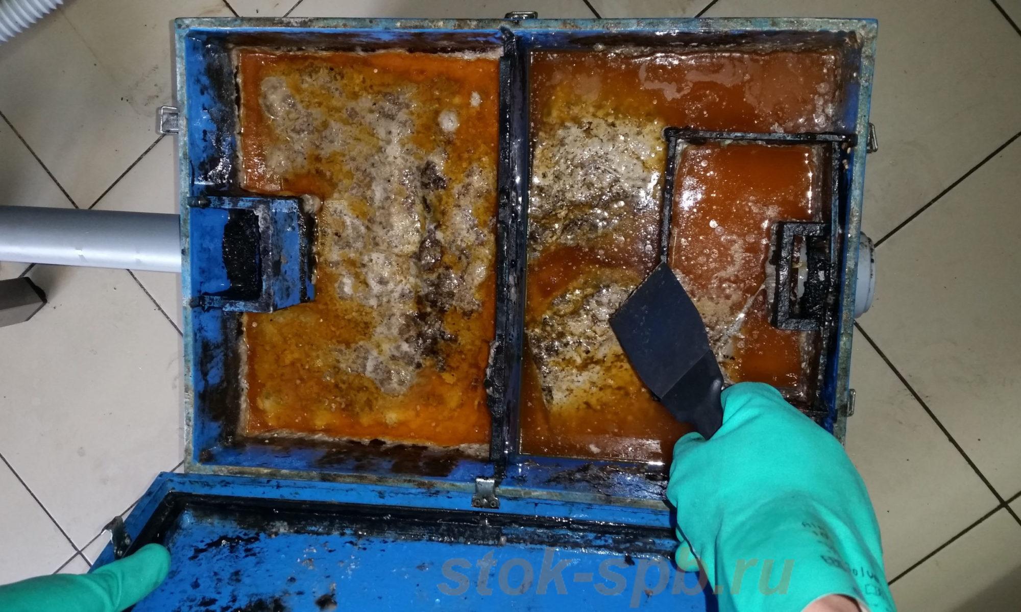 Очистка жироуловителей под мойку